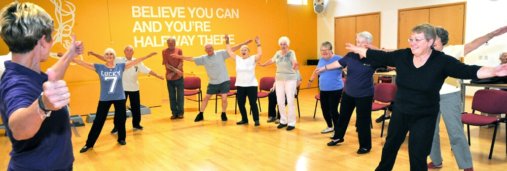 Agewell's weekly exercise classes are fun to attend